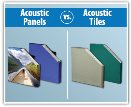 Difference between acoustic panels and acoustic tiles