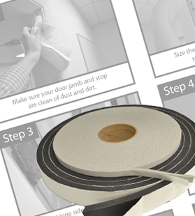 acoustic door seals installation instructions